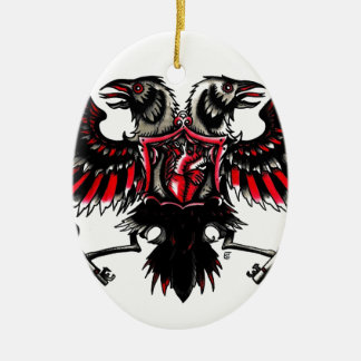 Crows and Hearts Christmas Ornament