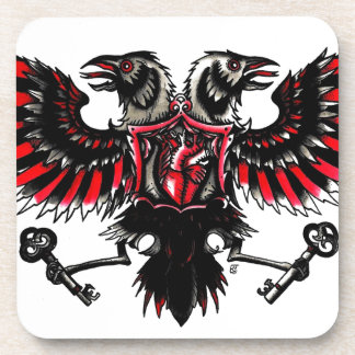 Crows and Hearts Coaster