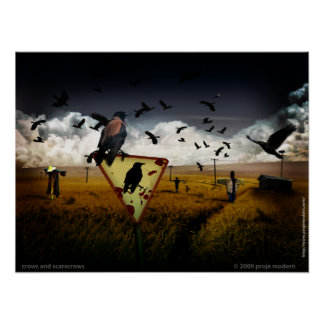 crows and scarecrows poster
