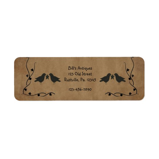 Crows And Star Small Product Label Return Address Label