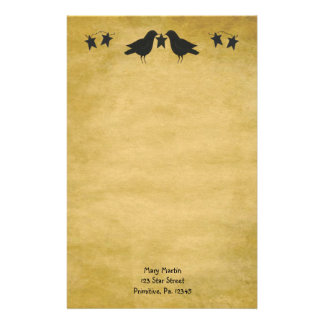 Crows And Stars Stationery