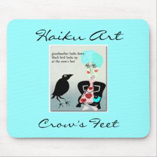 Crow's Feet Haiku Art Mousepad