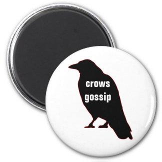 Crows Gossip 6 Cm Round Magnet