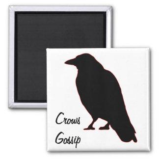 Crows Gossip Refrigerator Magnets