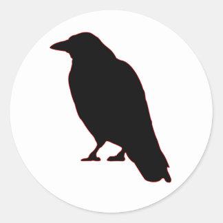 Crows Gossip Round Sticker