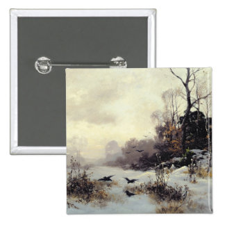 Crows in a Winter Landscape, 1907 15 Cm Square Badge
