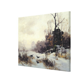 Crows in a Winter Landscape, 1907 Canvas Print