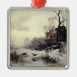 Crows in a Winter Landscape, 1907 Christmas Ornament