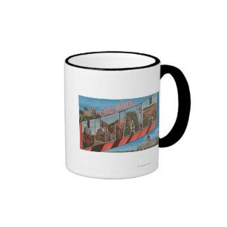 Croydon, UtahLarge Letter ScenesCroydon, UT Ringer Coffee Mug