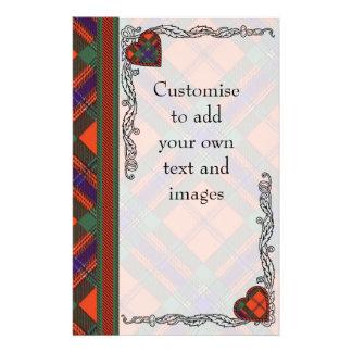 Crozier clan Plaid Scottish kilt tartan 14 Cm X 21.5 Cm Flyer