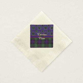 Crozier clan Plaid Scottish kilt tartan Paper Napkin