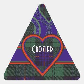 Crozier clan Plaid Scottish kilt tartan Triangle Sticker
