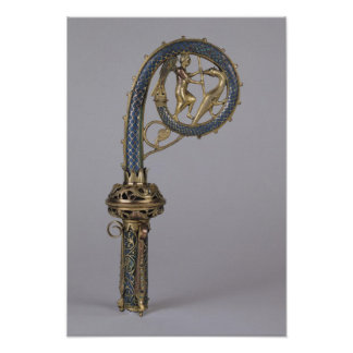 Crozier depicting St. Michael Poster
