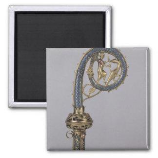 Crozier depicting St. Michael Square Magnet