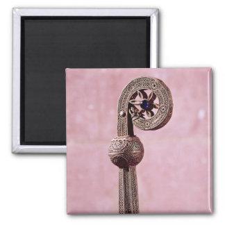 Crozier of St. Robert, c.1100 Square Magnet