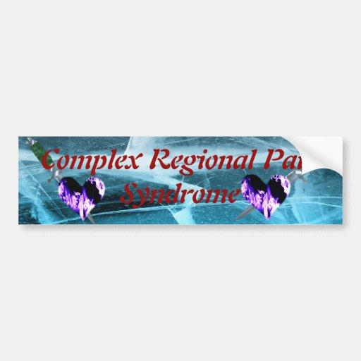 CRPS Hearts O' Flame & Dagger Bumper Sticker