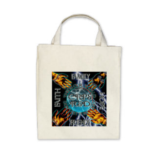 CRPS Keeping Our World Turning Black Lightning Gro Canvas Bags