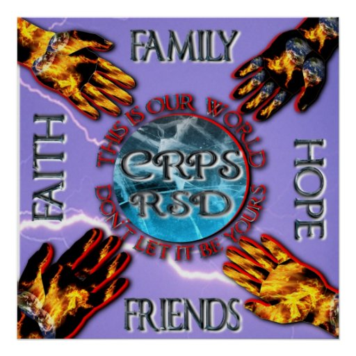 CRPS Keeping our World Turning Family Friends Hope Poster