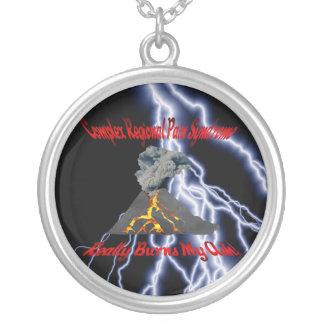 CRPS Really Burns My Ash Black Lightning Necklace