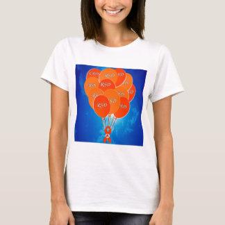 CRPS/RSD Balloons & Phoenix Ribbon LadyTEE T-Shirt