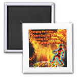 CRPS/RSD Living Our Lives, Fighting the Flames Square Magnet