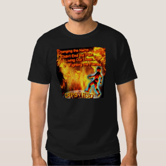CRPS/RSD Living Our Lives, Fighting the Flames T-shirts