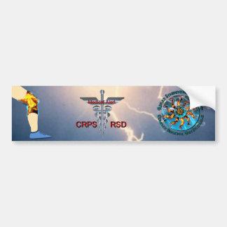 CRPS RSD Medical Alert & Lightning Asclepius Caduc Car Bumper Sticker