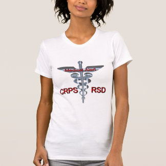 CRPS RSD Medical Alert Silver Asclepius Caduceus T-Shirt