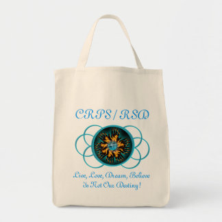 CRPS/RSD Turquoise Live Love Dream Believe Bag
