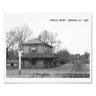 CRR of NJ Train Station, Neshanic, NJ Vintage Photo Print