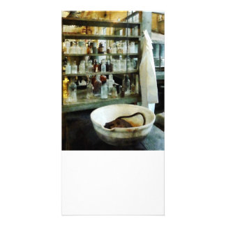 Crucible and Lab Coat Personalized Photo Card