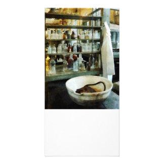 Crucible and Lab Coat Customized Photo Card