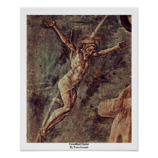 Crucified Christ By Tura Cosmè Print