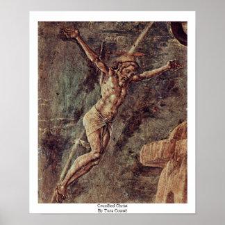 Crucified Christ By Tura Cosmè Print
