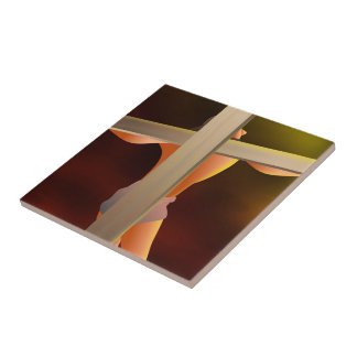 Crucified Ceramic Tile