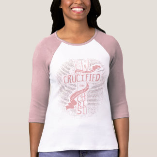 Crucified with Christ Light Pink T-Shirt