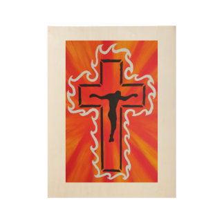 Crucified Wood Poster