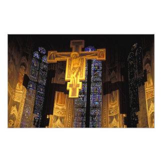 Crucifix above the High altar in the Santa Photo Print
