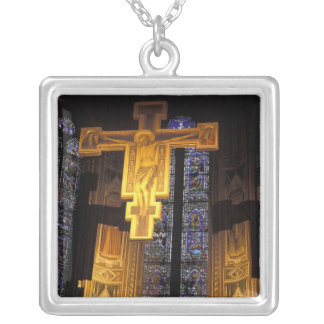 Crucifix above the High altar in the Santa Silver Plated Necklace