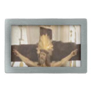 crucifix rectangular belt buckles