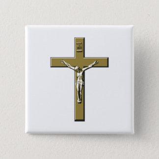 Crucifix in Bronze 15 Cm Square Badge
