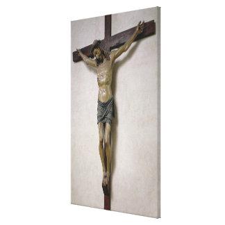 Crucifix (polychrome wood) canvas print