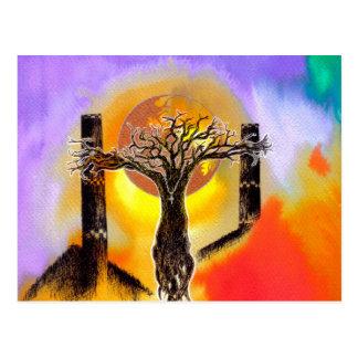 Crucifix. Postcard