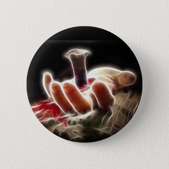 Crucifixion 6 Cm Round Badge