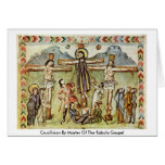 Crucifixion By Master Of The Rabula Gospel Greeting Card