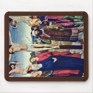 Crucifixion By Meister Der Aachener Tafeln Also Me Mouse Pad
