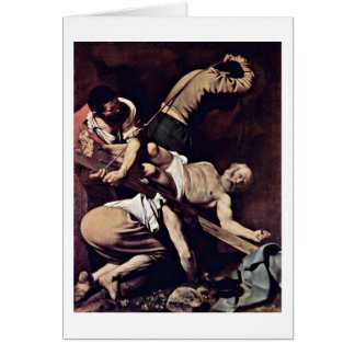 Crucifixion By Michelangelo Merisi Da Caravaggio Greeting Card