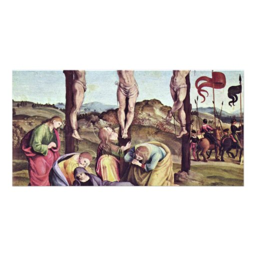 Crucifixion By Signorelli Luca (Best Quality) Personalized Photo Card
