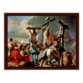 Crucifixion By Tiepolo Giovanni Battista Postcard