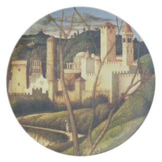 Crucifixion (detail of the background landscape sh dinner plates